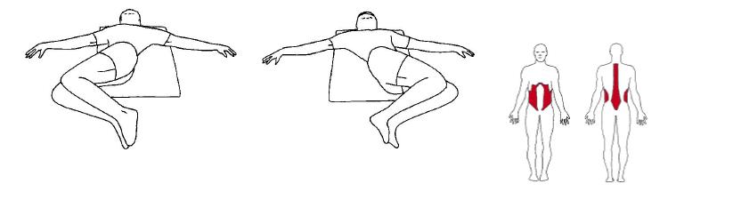 Tøyeøvelse: liggende på rygg sidebevegelser